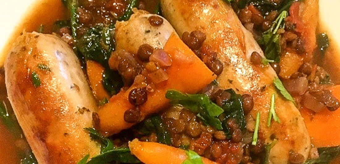 Sausage & Lentil Stew with Baby Carrots